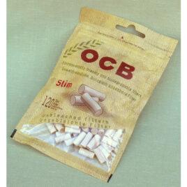 OCB unbleached Filter Tips for RYO cig, biodegradable Slim 120
