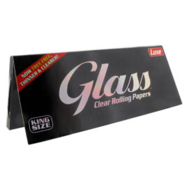 Glass clear cellulose cigarette papers, 40 Kingsize, Tree free