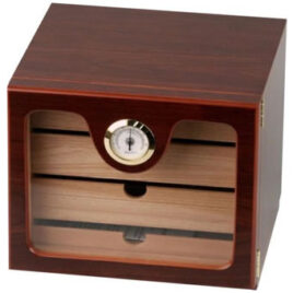 Cigar Cabinet Humidor; Cherry finish; 50 cigars; 220x240x230mm