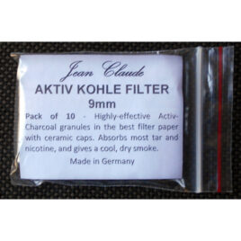 Stem Filter: Jean Claude Charcoal 9mm, pkt of 10;
