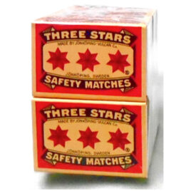 Average 50 x 45mm Three Star Matches normal size, pkt of 10