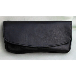 Foldover Companion Pouch, Synthetic, Lined, 2 zip compartments