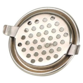 Chrome Pipe Cover with holes, and spring, 28mm