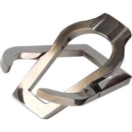 Single fold up polished chrome pipe rest, Portable