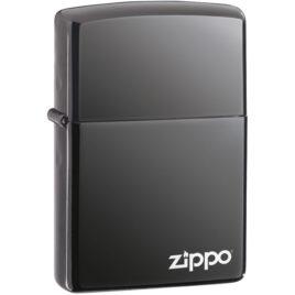 Zippo lighter, Black Ice with Zippo Logo