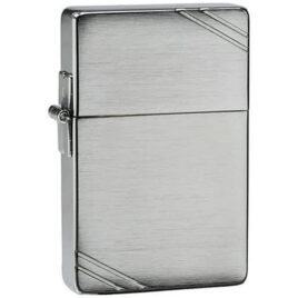 Zippo lighter, 1935 Replica with slashes, brushed chrome