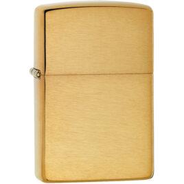 Zippo lighter, brushed Brass, plain