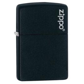 Zippo lighter, Black Matte with Zippo Logo, no border