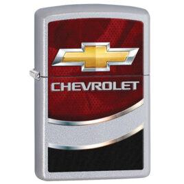 Zippo lighter, Chevrolet colour imaged on Satin Chrome
