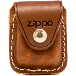 Zippo Lighter Pouch, with Clip, Brown