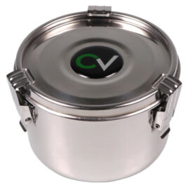 CV Premium storage box stainless steel air tight 500ml; 7cm high