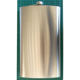 Extra large Hipflask, St.Steel, 64oz (1920 ml)